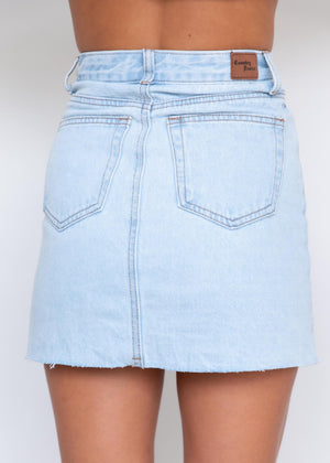 Tyne Denim Skirt - Light Wash