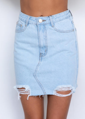 Jedidah Denim Skirt - Light Wash