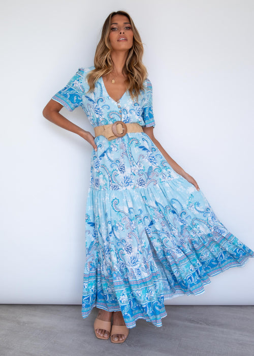 Kensey Maxi Dress - Sea Breeze