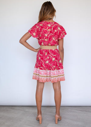 Zeela Dress - Berry Blooms