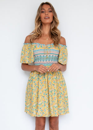 Kaydence Dress - Mustard Garden
