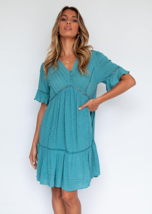 Trystia Dress - Teal