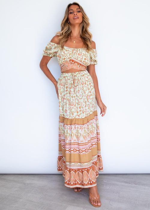 Linus Maxi Skirt - Limelight