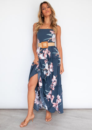 Hayes Maxi Dress - Navy Lillies