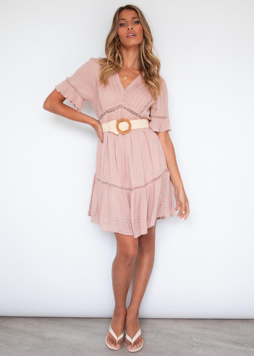 Trystia Dress - Blush