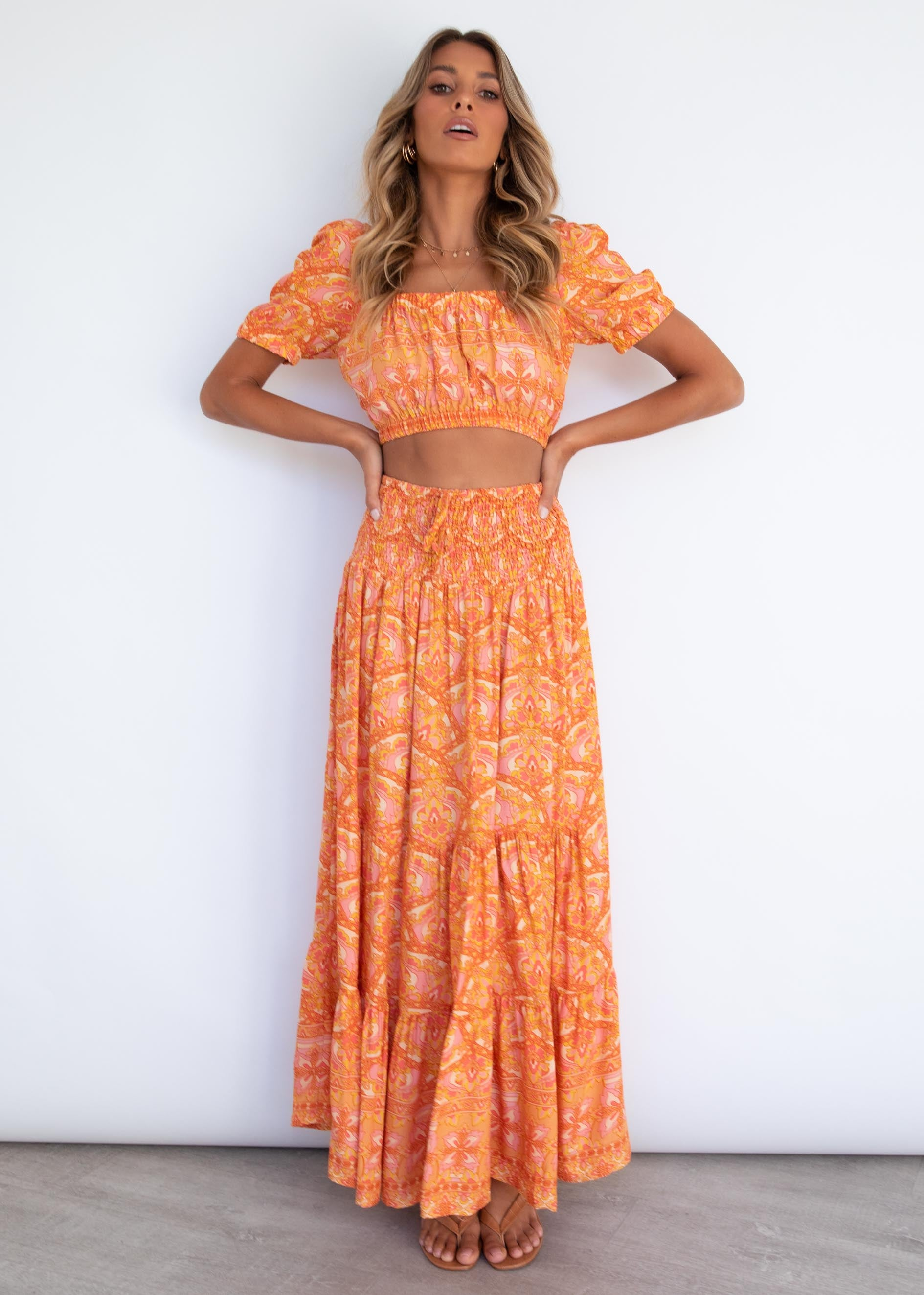 Good Times Maxi Skirt - Fleetwood