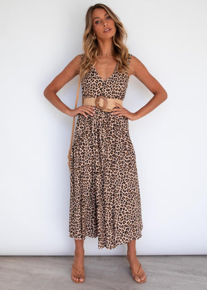 Shakya Midi Dress - Leopard