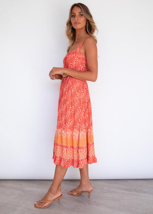 Ryann Midi Dress - Eve Sunrise