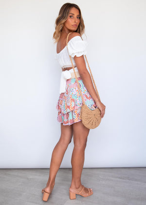 Chance Mini Skirt - Dusty Dreamer