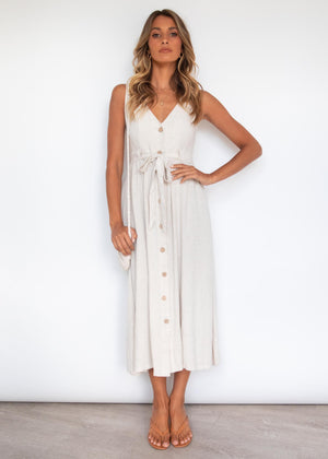 Calianna Midi Dress - Natural