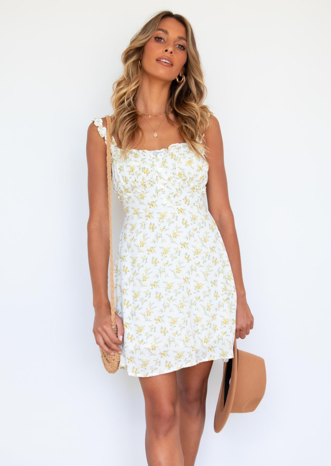 Knoxlee Dress - Yellow WIld Flower