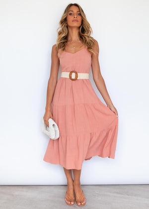 Elkin Midi Dress - Rose