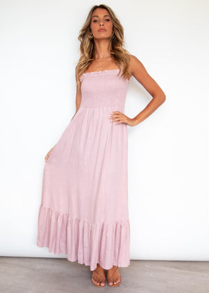 Evalina Maxi Dress - Blush
