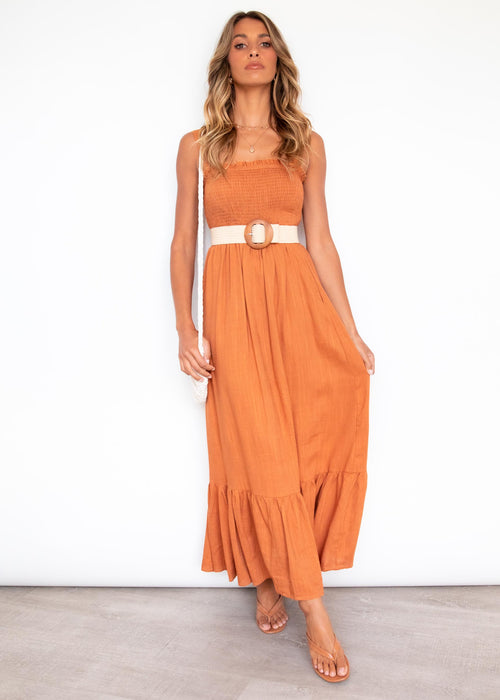 Evalina Maxi Dress - Tan