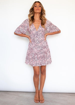 Kaiana Dress - Blush Leopard