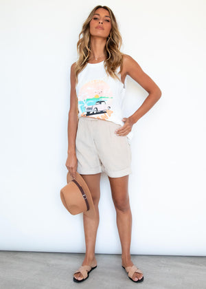 Postcards From Havana Tank - Off White