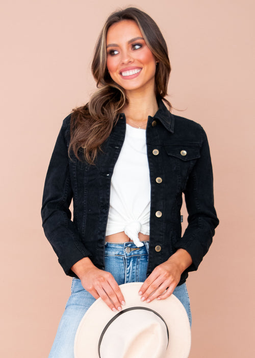 Women's Selina Denim Jacket - Black
