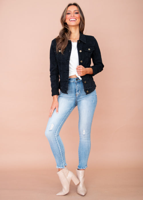 Selina Denim Jacket - Black