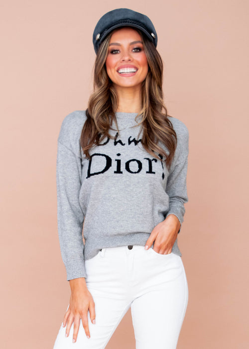 Women's Oh My Dior Sweater - Grey