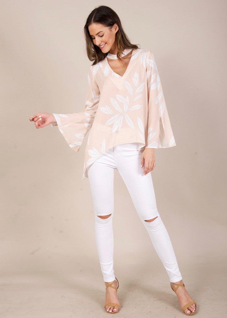 Smokescreen Blouse - Beige Floral