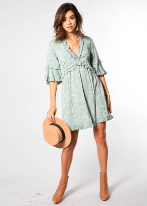 Carry On Swing Dress - Sage