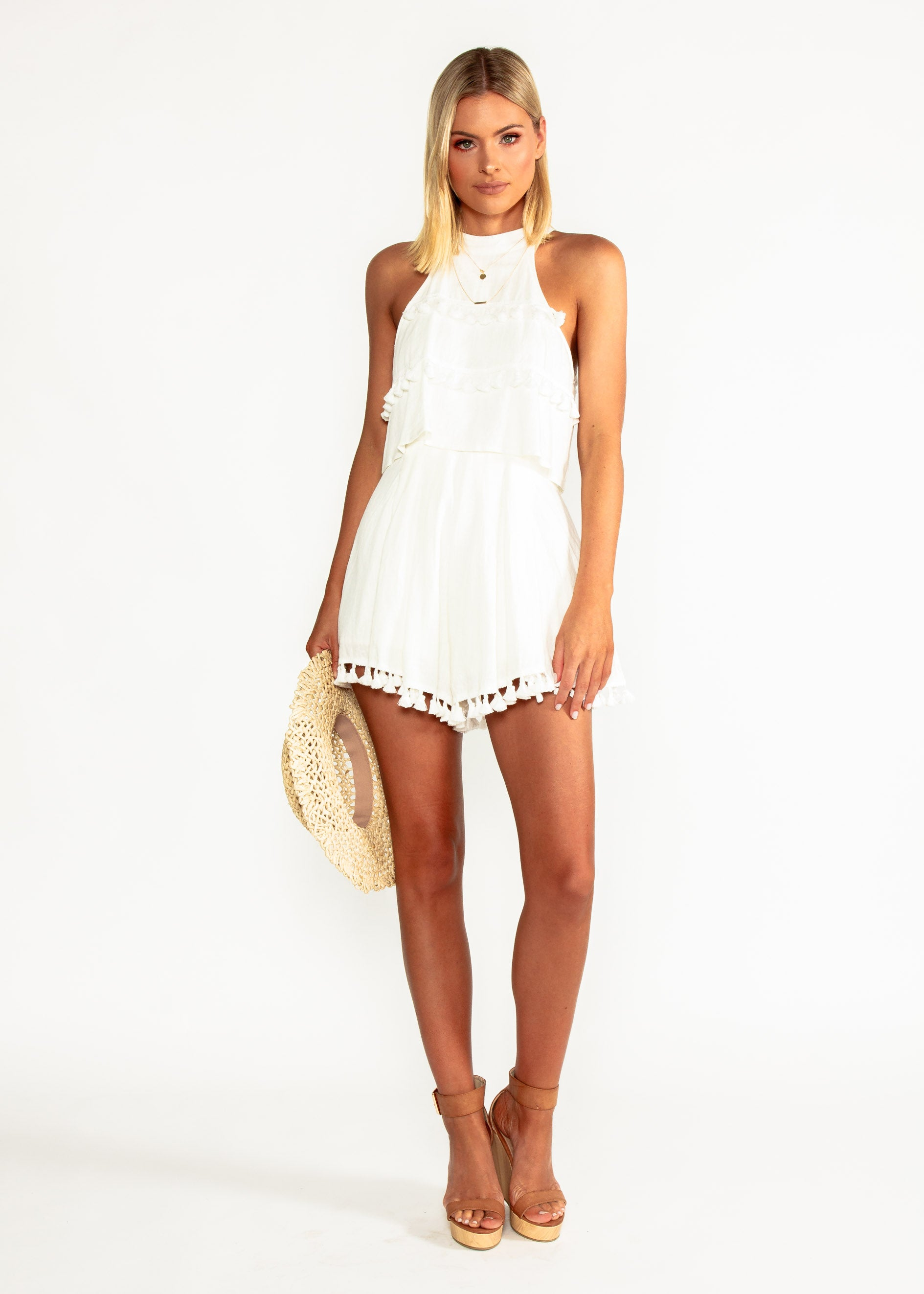 Taryn Linen Playsuit - Cream