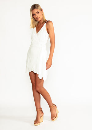 Without Your Love Dress - White