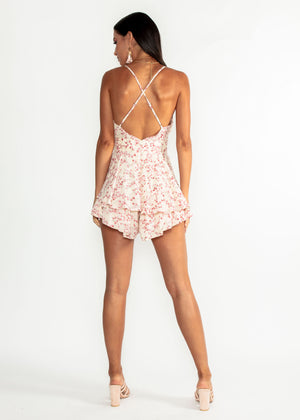 Rise To It Playsuit - Pearl Papyrus