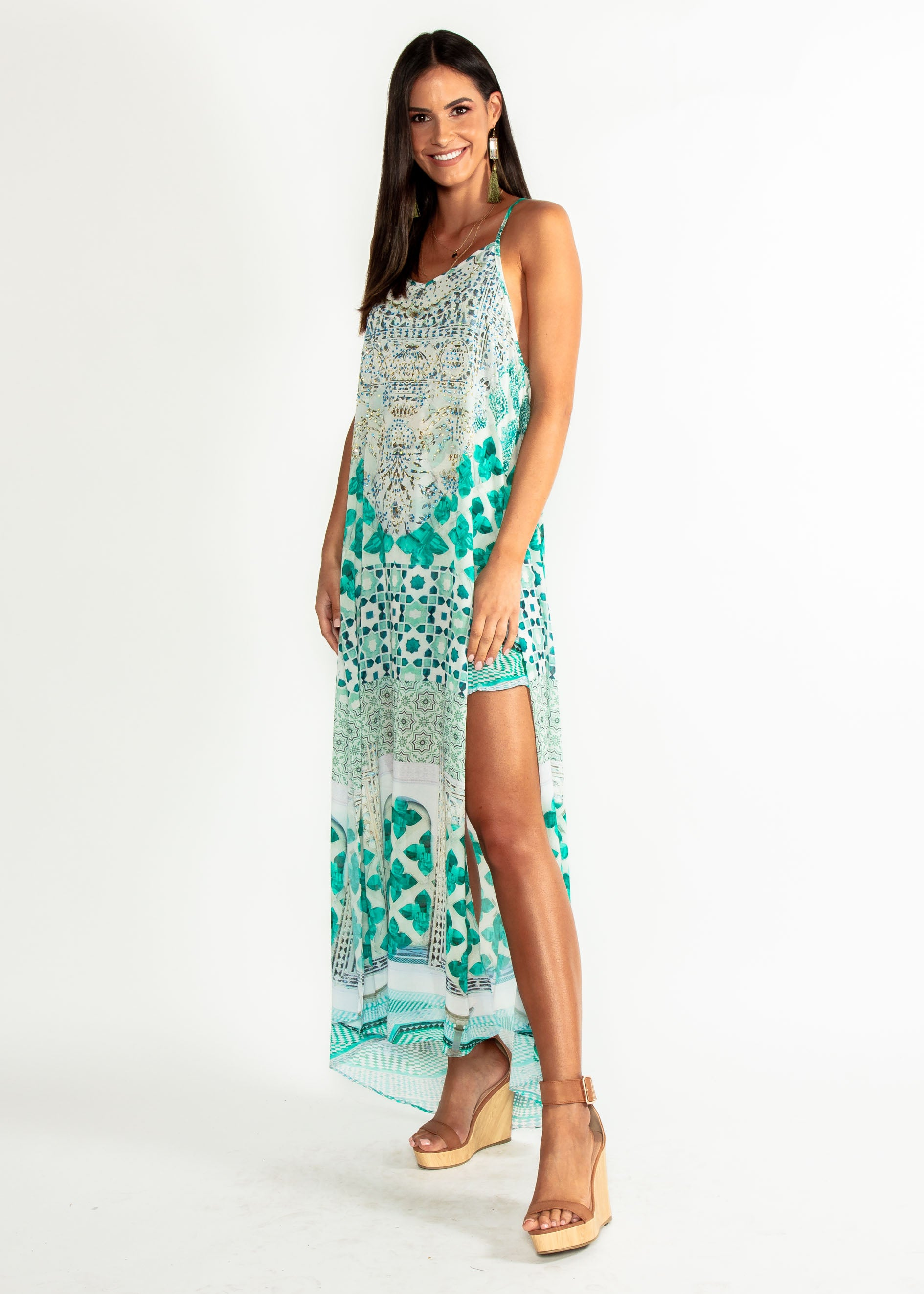 93b6da1ef9b5 Lost Lotus Chiffon Maxi - Emerald City ...