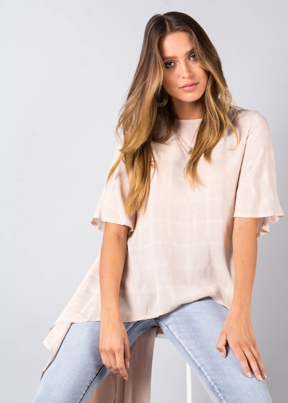 Another Time Hi-Lo Blouse - Blush