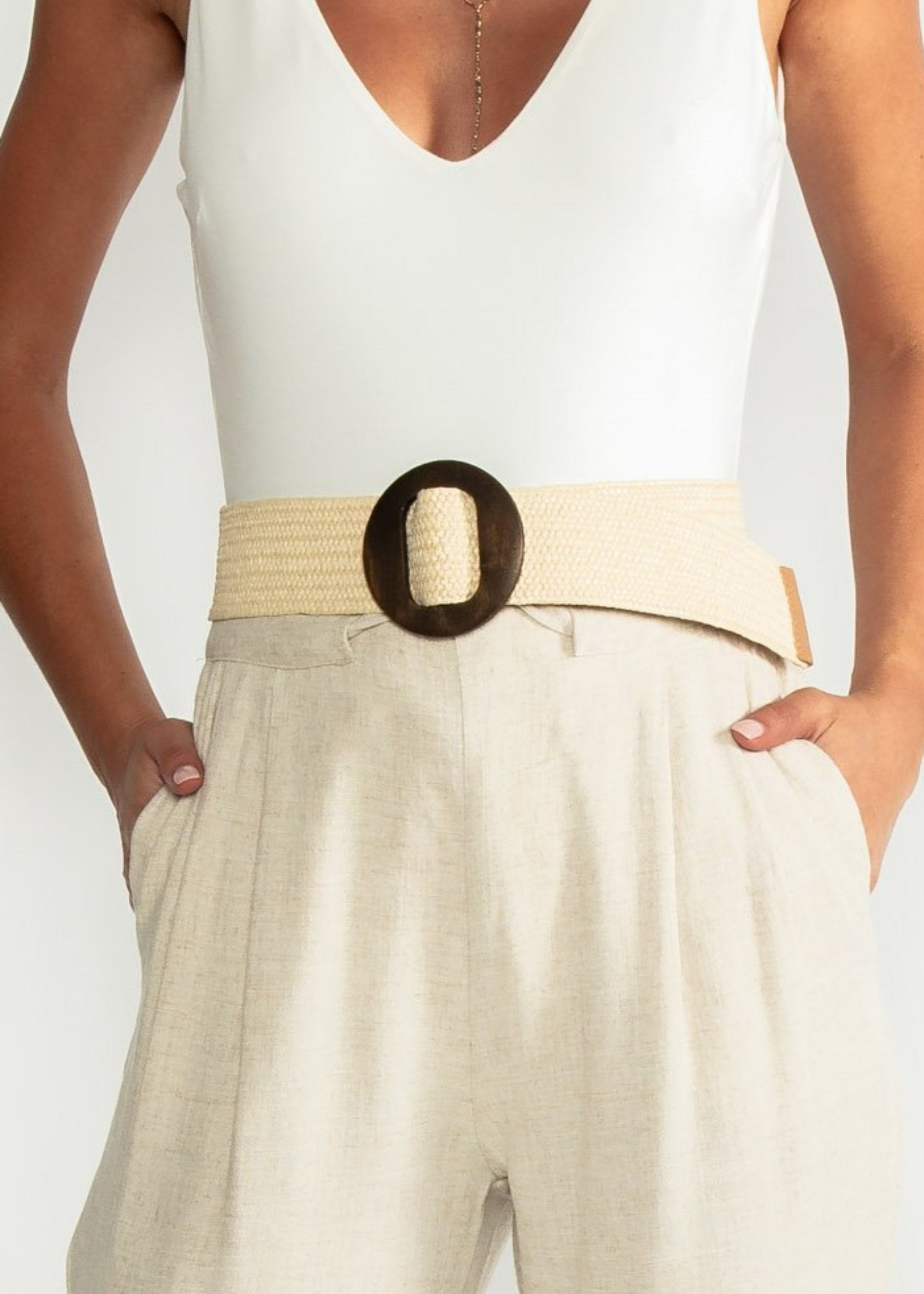 Pia Belt - Cream