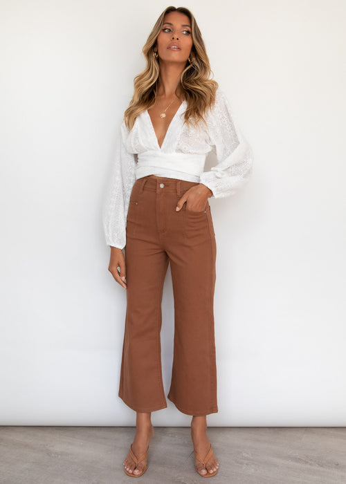 Ryleigh Stretch Jeans - Chocolate