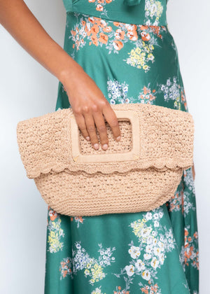 Amy Crochet Bag - Natural