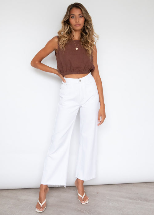 Reagan Wide Leg Jeans - Off White