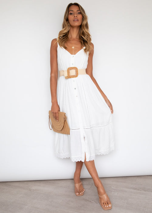 Jimena Midi Dress - Off White