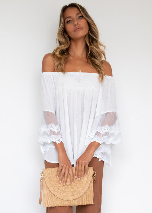 Horizons Off Shoulder Blouse - Off White