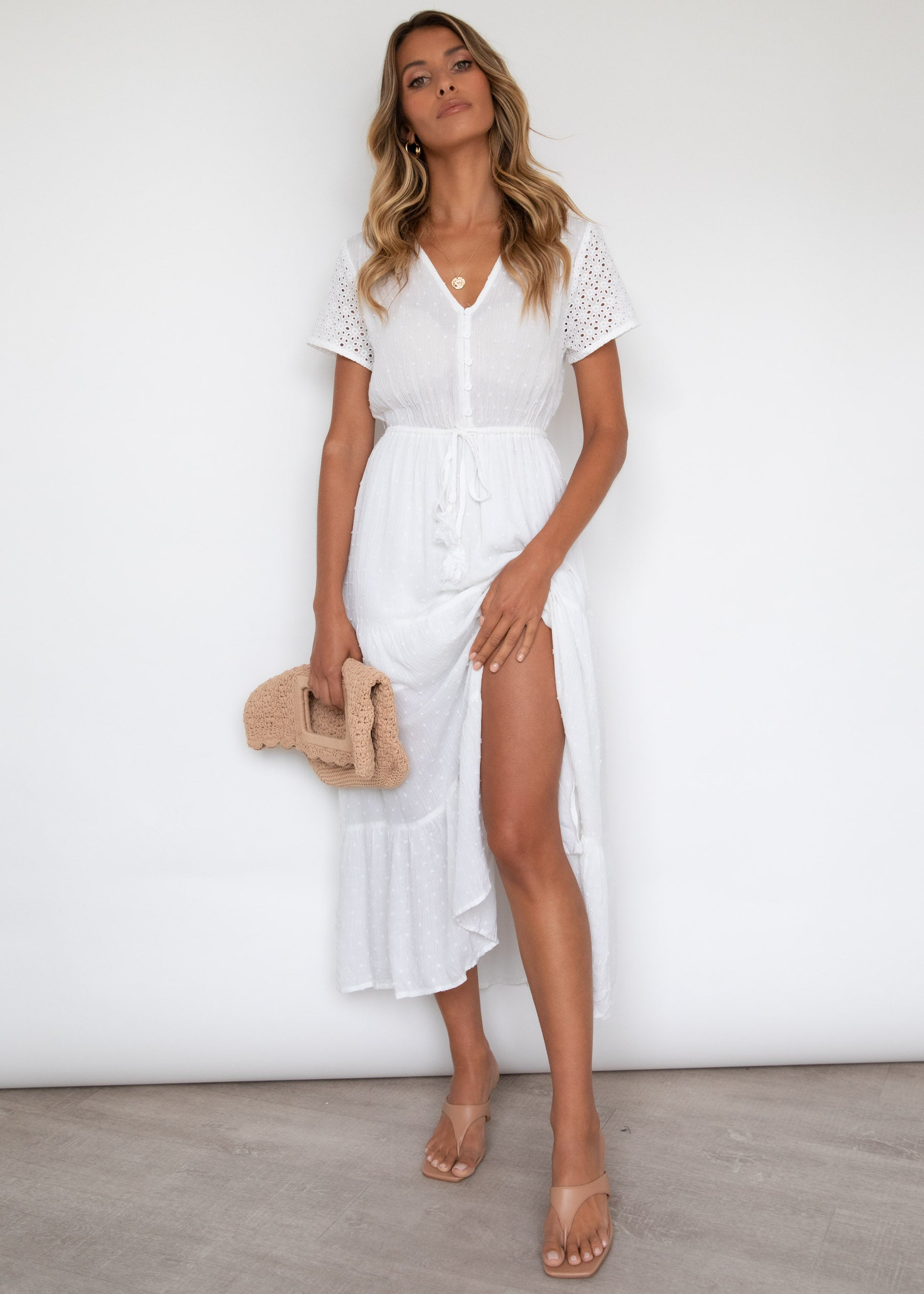 Ruby Midi Dress - White