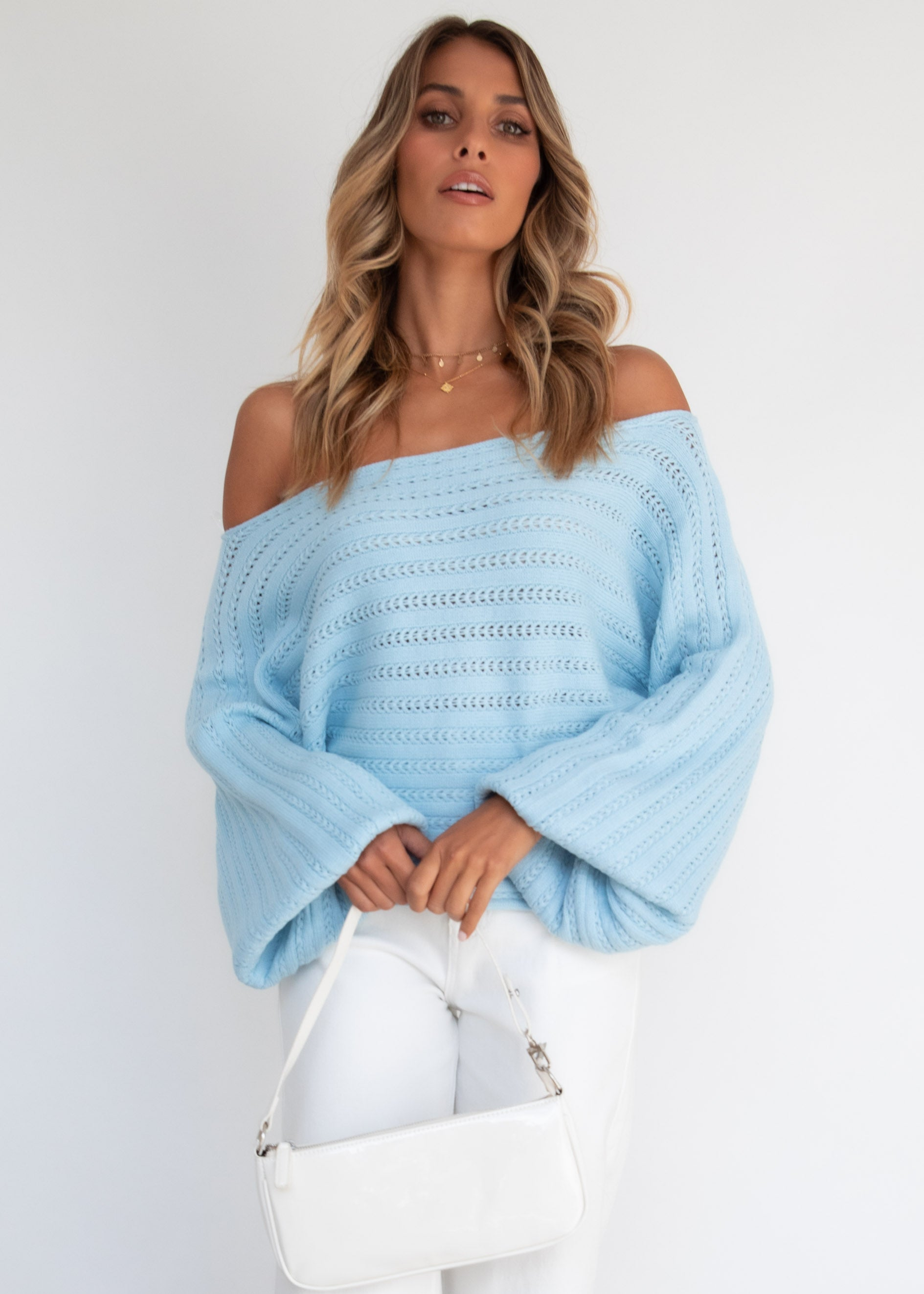 Live Your Life Sweater - Blue