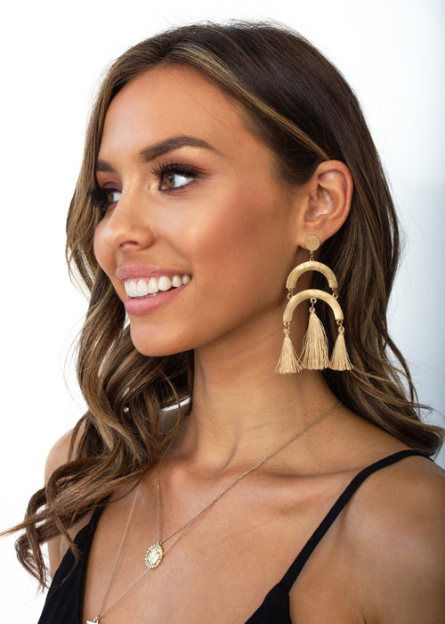 Harbour Earrings - Beige