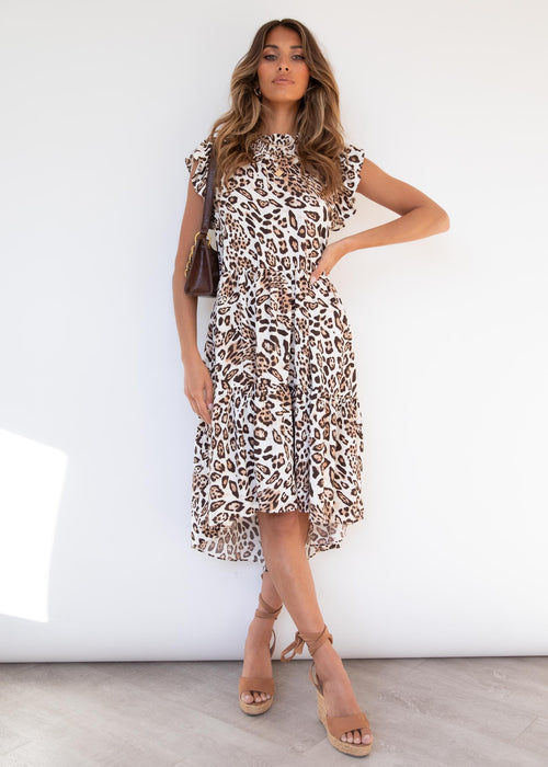 Repertoire Midi Dress - Leopard