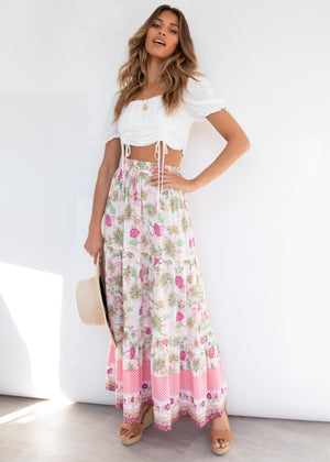 Livia Maxi Skirt - Enchanted Garden
