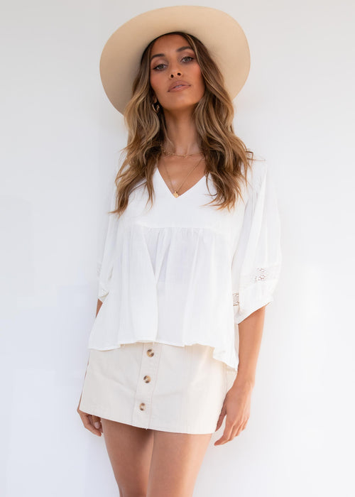 Here To Stay Blouse - White