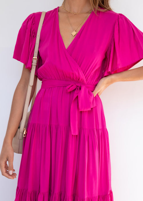 Cupid Midi Dress - Magenta