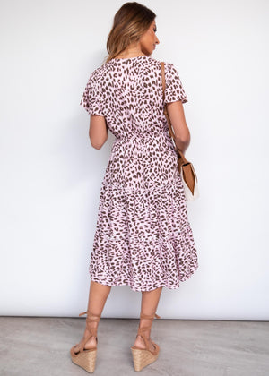 Kassie Midi Dress - Pink Panther