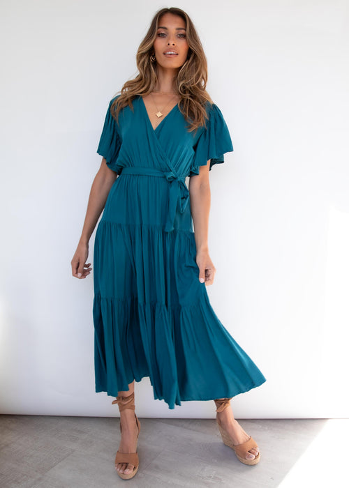 Cupid Midi Dress - Emerald