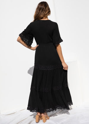 Cece Maxi Dress - Black
