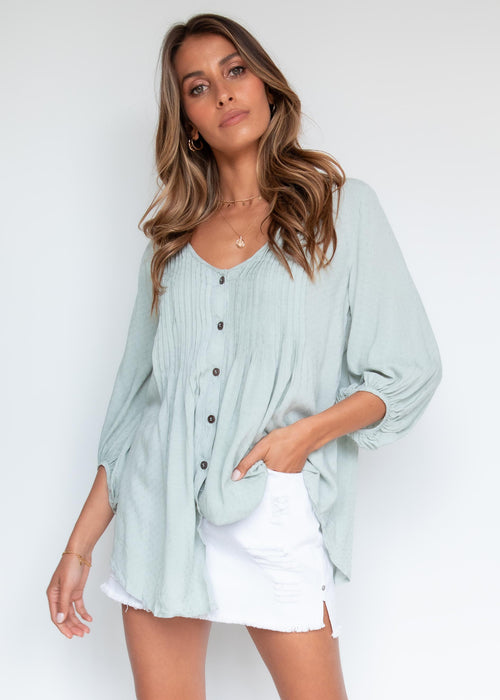 Macey Blouse - Sage