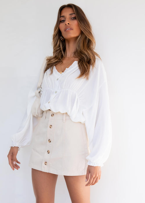 Cataleya Blouse - White