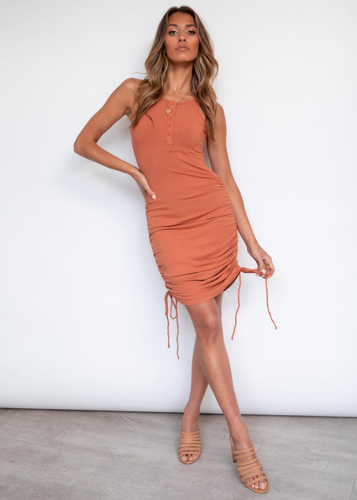 Balter Midi Dress - Rust