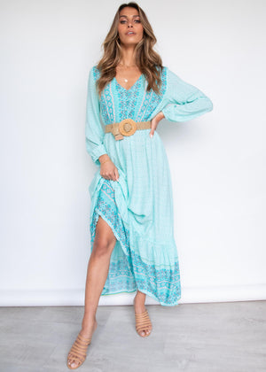 Vanni Maxi Dress - Aqua Sea